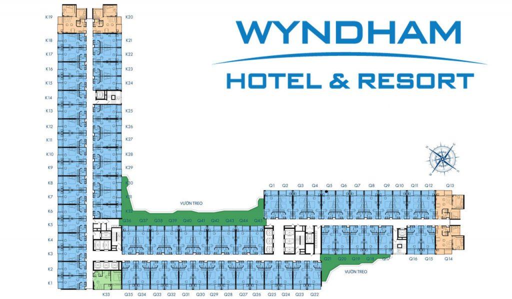 Mặt bằng thiết kế wyndham thanh thủy